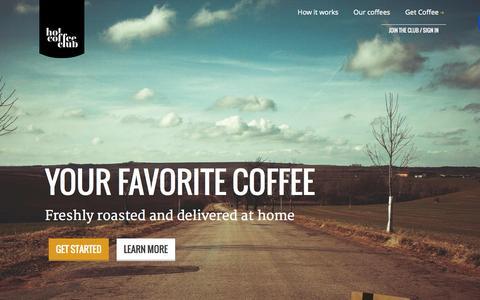 Screenshot of Home Page hotcoffeeclub.com - Hot Coffee Club - captured June 17, 2015