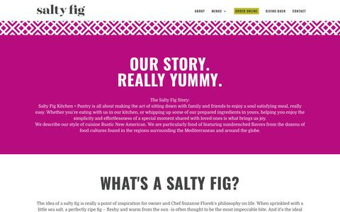 Screenshot of About Page saltyfig.com - About | Salty Fig - captured July 27, 2018