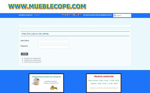 Screenshot of Site Map Page mueblecope.com - Tienda de Muebles - captured May 27, 2017