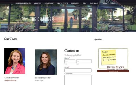 Screenshot of Team Page ubcc.org - Our Team | Upper Bucks Chamber of Commerce | Quakertown, PA - captured May 29, 2019
