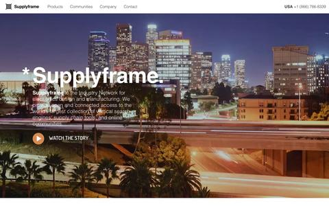 Screenshot of Home Page supplyframe.com - Supplyframe - captured March 14, 2017