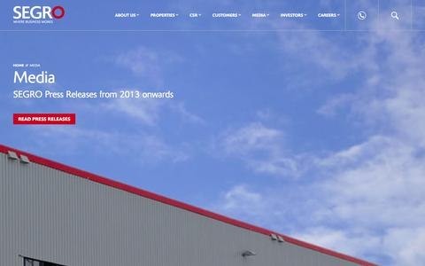 Screenshot of Press Page segro.com - Media � SEGRO - captured Dec. 11, 2015