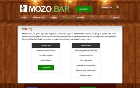 Screenshot of Pricing Page qwaiter.com - mozo.bar - captured Dec. 14, 2015