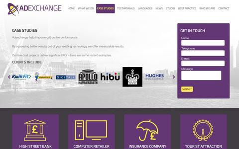 Screenshot of Case Studies Page adexchange.co.uk - Adexchange - Case Studies - captured July 24, 2016