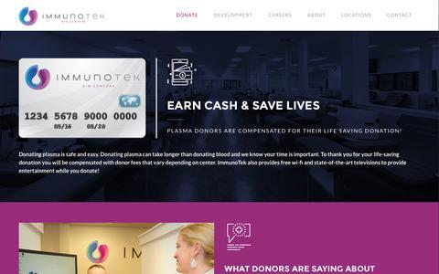 Screenshot of Signup Page immunotek.com - Donate   ImmunoTek - captured Nov. 26, 2016