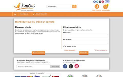 Screenshot of Login Page kangui.com - Identifiant client  | Kangui Trampolines - captured Sept. 24, 2014
