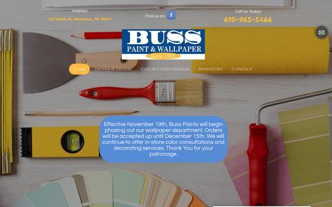 Screenshot of Home Page busspaintandwallpaper.com - Home Design Consultants | Emmaus, PA | Buss Paint & Wallpaper - captured Dec. 4, 2018