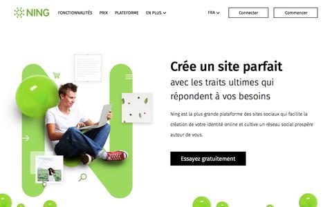 Screenshot of ning.com - NING: Crée un site web social – Qualité constructeur de sites - captured June 3, 2017
