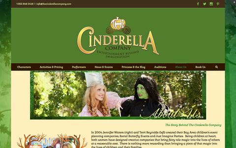 Screenshot of About Page thecinderellacompany.com - About The Cinderella Company | Children's Party Entertainment - captured Jan. 11, 2016