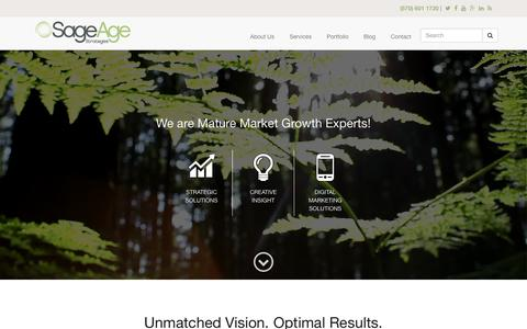 Screenshot of Home Page sageagestrategies.com - Senior Living Marketing and Business Growth Experts | Sage Age Strategies - captured Jan. 14, 2016