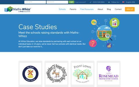 Screenshot of Case Studies Page whizz.com - Case Studies | Whizz - captured Oct. 20, 2018