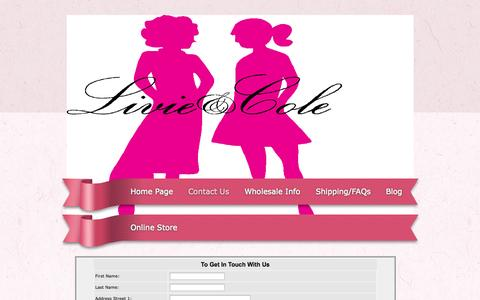 Screenshot of Contact Page my18inchdoll.com - Contact Us - captured Oct. 2, 2014