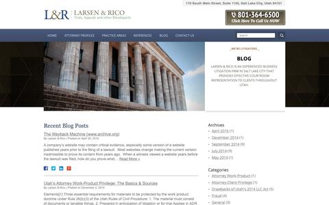 Screenshot of Blog larsenrico.com - Blog | Larsen & Rico, PLLC - captured Sept. 27, 2018