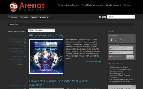 Screenshot of Blog arenaspromotions.com - Arenas Promotions Blog - captured Sept. 30, 2014