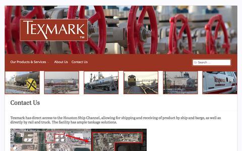 Screenshot of Contact Page texmark.com - Contact Us - captured Feb. 16, 2016