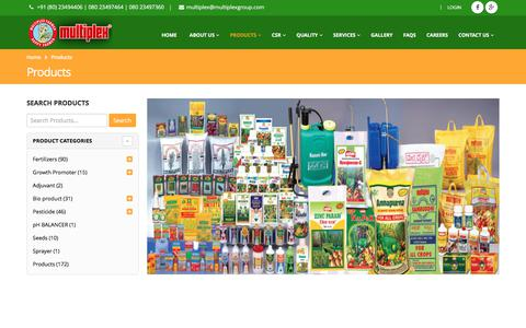 Screenshot of Products Page multiplexgroup.com - Products | Multiplex Group - captured Oct. 17, 2017