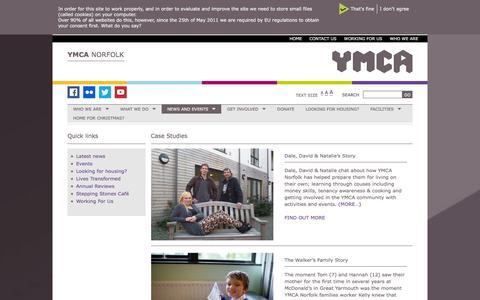 Screenshot of Case Studies Page ymcanorfolk.org - Case Studies Archives - YMCA Norfolk - captured Dec. 19, 2015