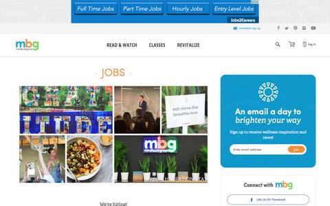 jobs - mindbodygreen