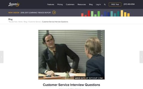 Screenshot of Support Page lessonly.com - Customer Service Interview Questions - Lessonly - captured Dec. 21, 2016