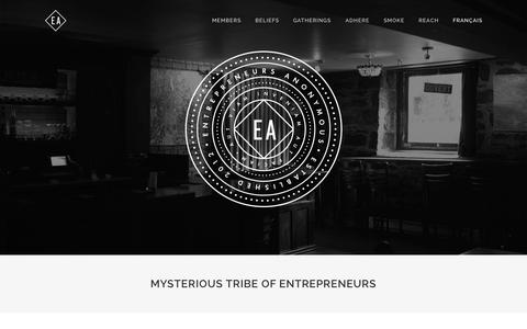 Screenshot of Home Page eamtl.com - Entrepreneurs Anonymous - captured Oct. 3, 2014