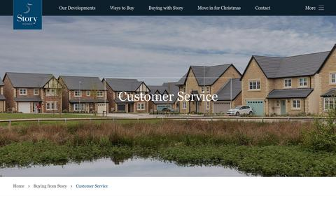 Screenshot of Support Page storyhomes.co.uk - Customer Service - Our care service as you buy your new house - captured Oct. 19, 2018