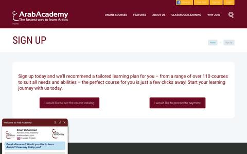 Screenshot of Signup Page arabacademy.com - Sign Up | Arab Academy - captured May 30, 2017