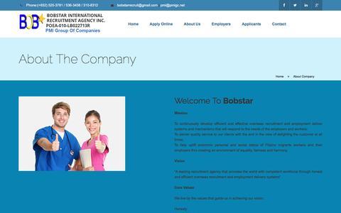 Screenshot of About Page skilledonline.com - Bobstar International Recruitment Agency Inc. - captured Oct. 16, 2016