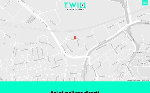 Screenshot of Contact Page twiq.nl - TwiQ Media Groep   Contact   076-3690550 - captured Nov. 22, 2016