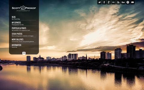 Screenshot of Home Page scottprokop.com - Scott Prokop Photography - captured Oct. 4, 2014
