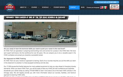 Screenshot of Locations Page hvac-tech.com - Locations - captured May 1, 2018