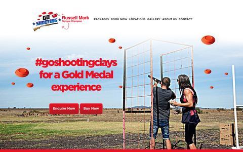 Screenshot of Home Page goshooting.com.au - Clay Target Shooting Range Melbourne, Brisbane & Gold Coast - captured March 3, 2017