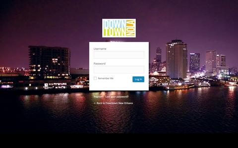 Screenshot of Login Page downtownnola.com - Downtown New Orleans › Log In - captured March 1, 2016