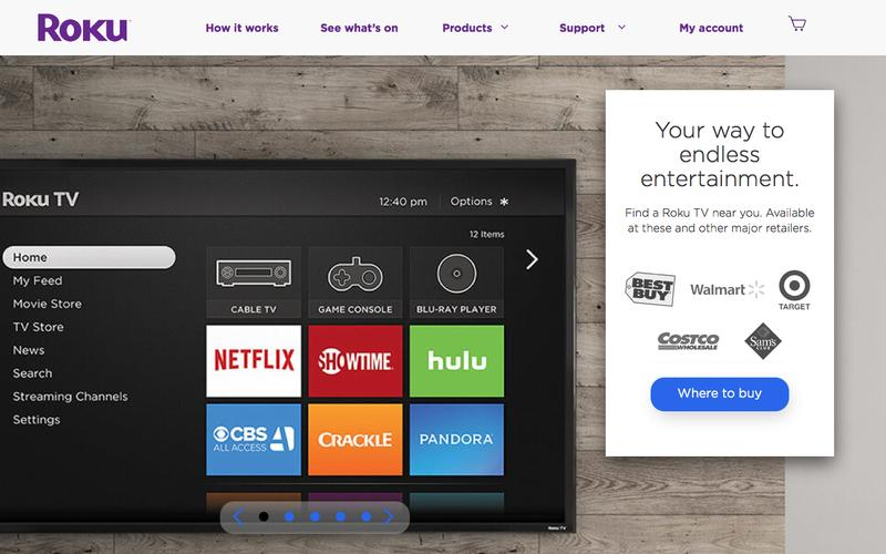 Screenshot Roku