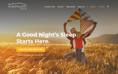 Screenshot of Home Page sleepquest.com - Quality Sleep is Our Dream - SleepQuest - captured Nov. 6, 2018