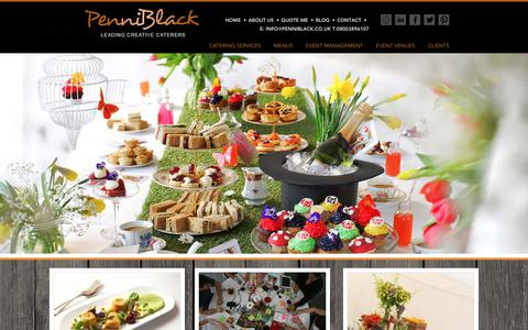 Screenshot of Home Page penniblack.co.uk - Leading Creative Catering & Caterers in London : PenniBlack - captured July 20, 2017
