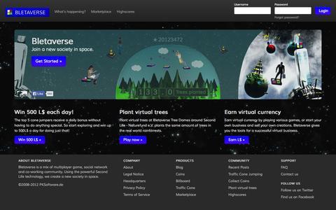 Screenshot of Home Page bletaverse.com - Bletaverse - captured Sept. 23, 2014