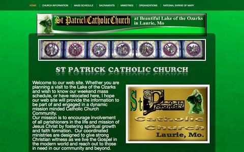 Screenshot of Home Page stpatrickcatholicchurch.org - St Patrick Catholic Church - captured June 13, 2016