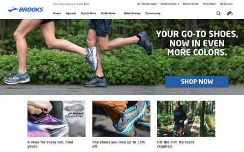 Screenshot of Home Page brooksrunning.com - Brooks Running Shoes and Apparel | Brooks Running.com - captured May 13, 2017