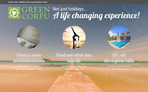 Screenshot of Home Page greencorfu.com - Green Corfu | Holidays in Arillas and Corfu! - captured July 18, 2016