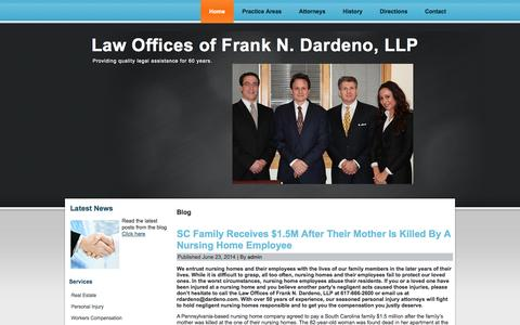 Screenshot of Blog dardeno.com - Blog Archives | Law Offices of Frank N. Dardeno, LLPLaw Offices of Frank N. Dardeno, LLP - captured Oct. 2, 2014