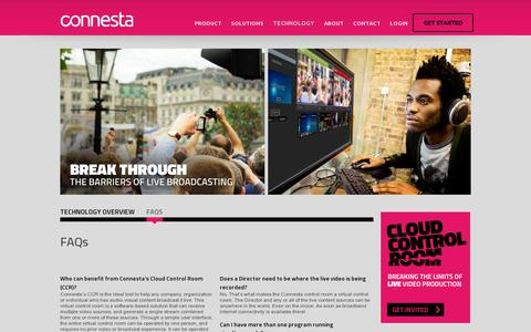 Screenshot of FAQ Page connesta.com - FAQs : Connesta - captured July 19, 2014