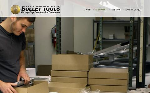 Screenshot of Support Page bullettools.com - Support • Bullet Tools - captured Aug. 4, 2018