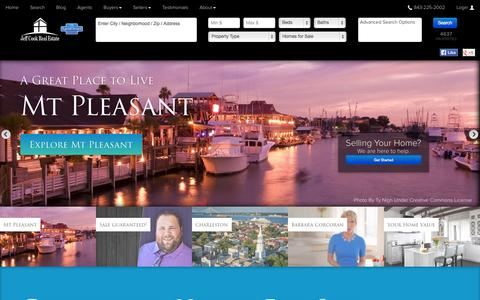 Screenshot of Home Page jeffcookrealestate.com - Charleston SC Homes For Sale and Real Estate - captured Sept. 30, 2014