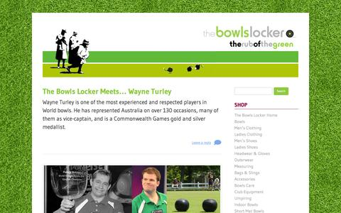 Screenshot of Blog thebowlslocker.co.uk - The Rub Of The Green | The Bowls Locker Blog - captured Oct. 26, 2014