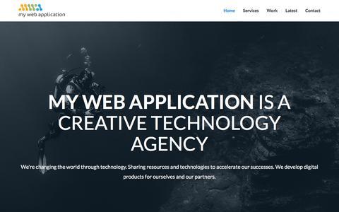 Screenshot of Home Page mywebapplication.com - Welcome to My Web Application - My Web Application - captured Feb. 26, 2016