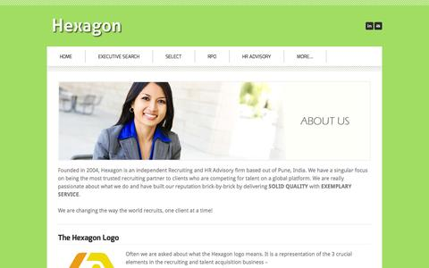 Screenshot of About Page hexagonsearch.com - About - Hexagon - captured Oct. 2, 2014