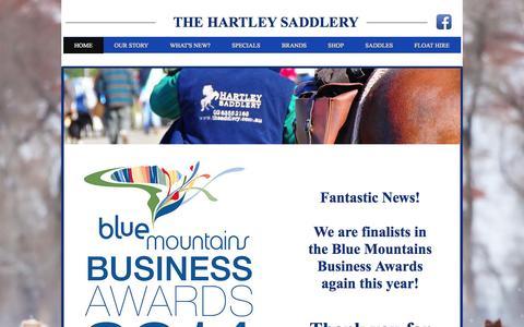 Screenshot of Home Page thehartleysaddlery.com.au - thehartleysaddlery - captured Oct. 2, 2014