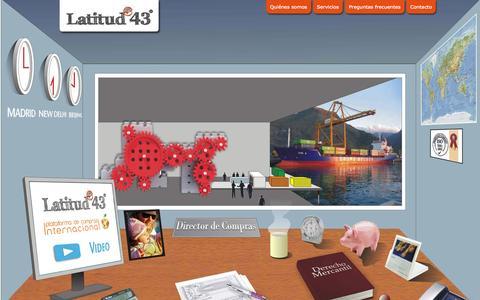 Screenshot of Home Page latitud43.es - Latitud43 : Central de Compras Internacional con asesoramiento España y en destino - captured Jan. 27, 2015