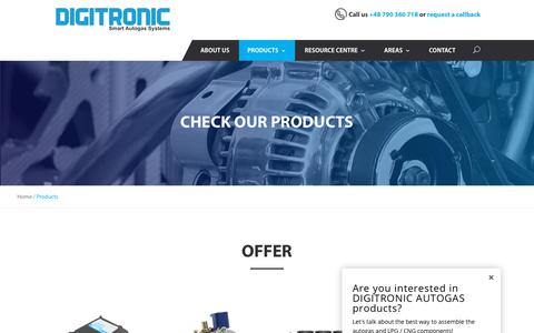 Screenshot of Products Page digitronicgas.com - Products Archive - Digitronic Autogas - captured Oct. 12, 2017