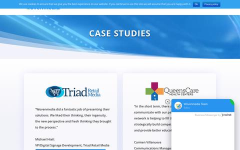 Screenshot of Case Studies Page wovenmedia.com - Case Studies - Wovenmedia - captured Dec. 23, 2018
